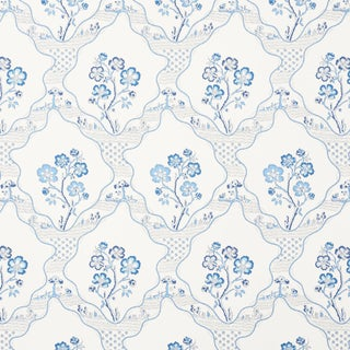 Sample - Schumacher Marella Wallpaper in Delft For Sale