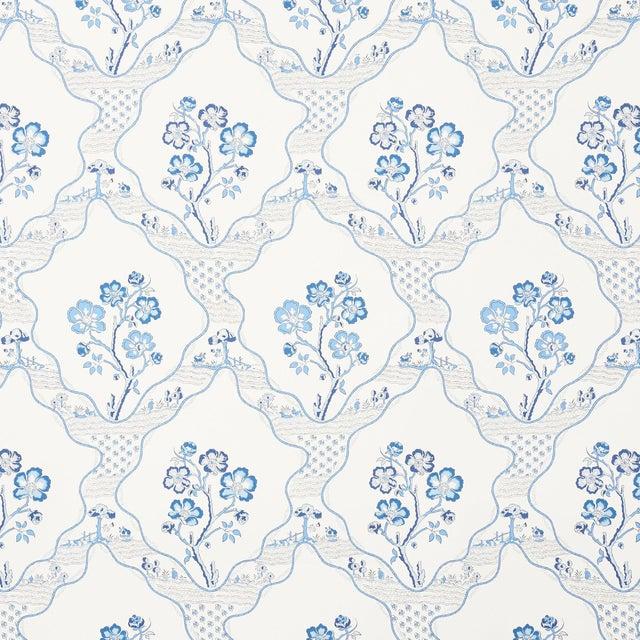 Sample - Schumacher Marella Wallpaper in Delft For Sale