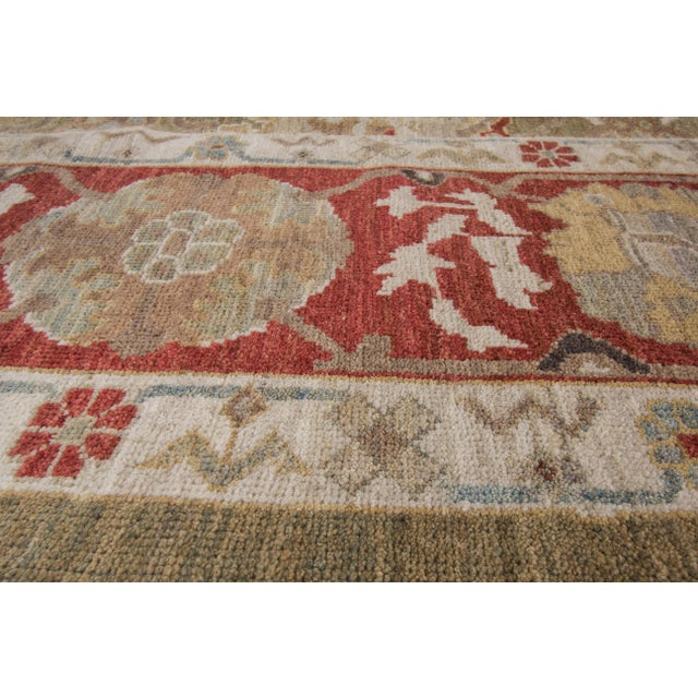 "White Wool Sultanabad Rug - 8' x 10'3"" For Sale - Image 8 of 9"