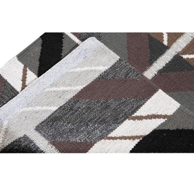 21st Century Modern Swedish Style Runner Rug, 3' X 14' For Sale - Image 4 of 9