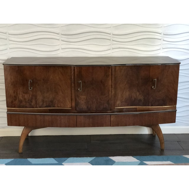 1950s Mid-Century Modern Cocktail Bar Cabinet and Credenza For Sale - Image 9 of 10