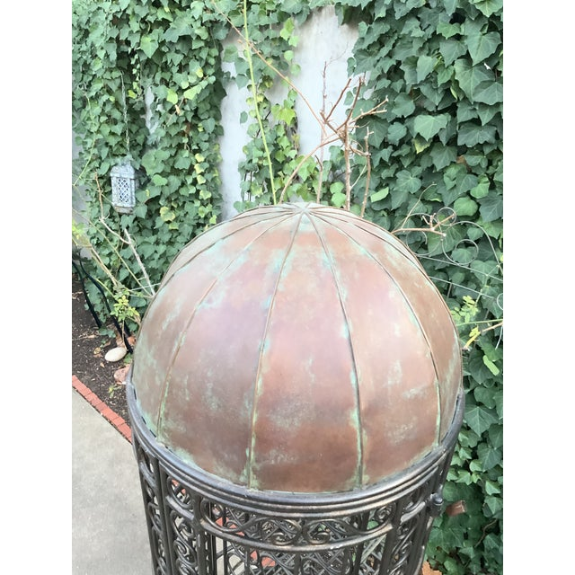 Maitland-Smith Copper Domed and Iron Wine Rack For Sale In Dallas - Image 6 of 12