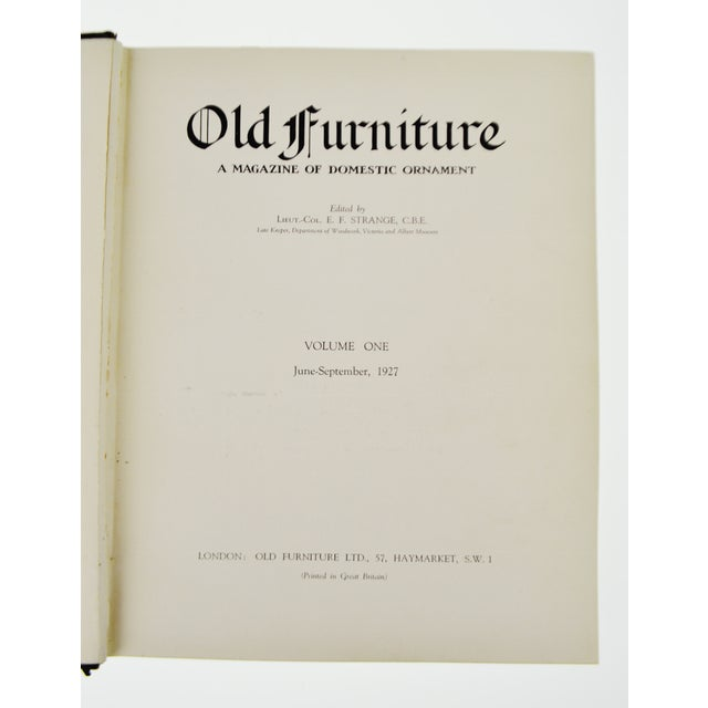 """1920s Vintage """"Old Furniture: A Magazine of Domestic Ornaments"""" Books - Set of 6 - Image 4 of 10"""