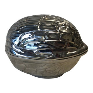1970s Silver Nut Shaped Catchall Box** For Sale