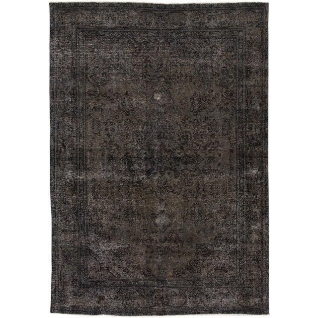 "Textile Apadana - Vintage Persian Overdyed Rug, 6'8"" X 9'7"" For Sale - Image 7 of 7"