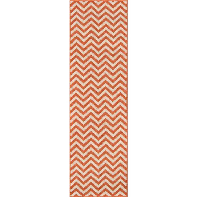 """2010s Momeni Baja Orange Indoor/Outdoor Rug - 6'7"""" X 9'6"""" For Sale - Image 5 of 6"""