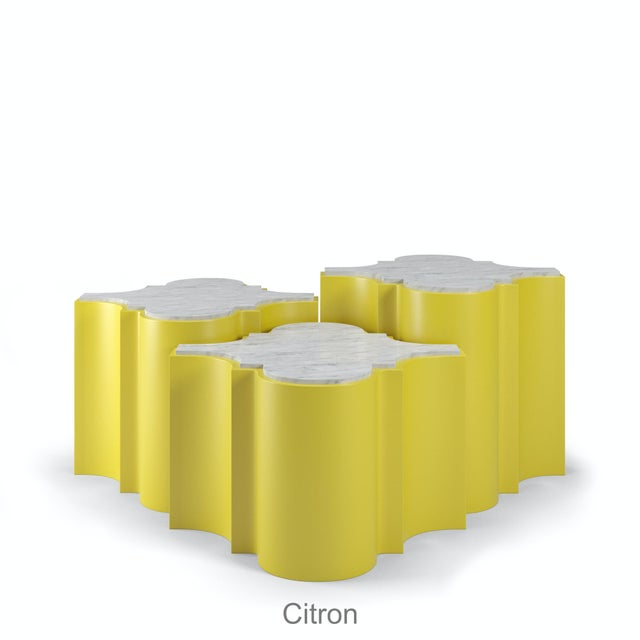 Sofia Nesting Tables, Set of 3 - Citron For Sale In Los Angeles - Image 6 of 6