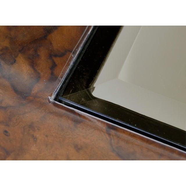 Brown Vintage Burlwood & Beveled Glass Coffee Table For Sale - Image 8 of 9
