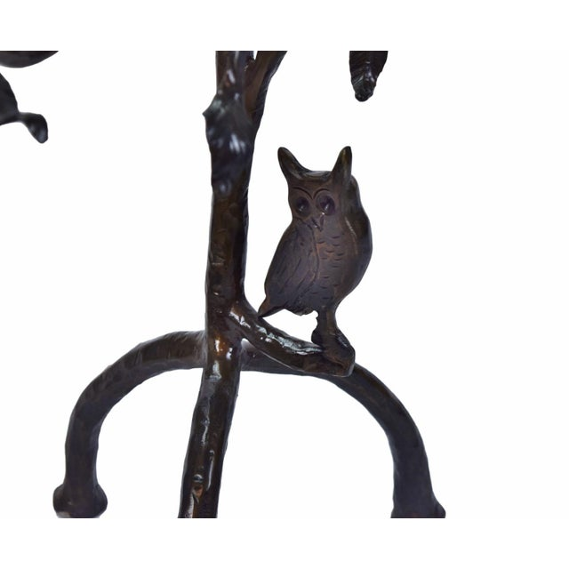 Vintage Twig and Owl Bronze Patinated Iron Table For Sale In Chicago - Image 6 of 9