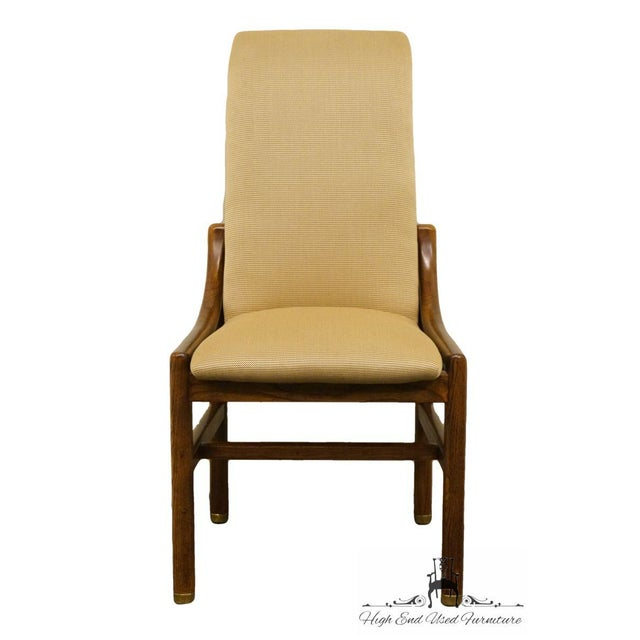 """HENREDON Solid Walnut Mid Century Modern Dining Side Chair 2361 2681 4 available, priced each. 40.75"""" High 20.5"""" Wide 24""""..."""