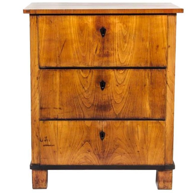 Country Italian Fruitwood Neoclassical Three-drawer Chest For Sale - Image 3 of 10