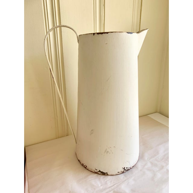 Rustic Farmhouse Large Metal Pitcher Vessel For Sale - Image 11 of 11