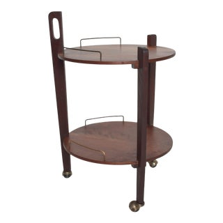 1950s Eugenio Escudero Mexican Modern Service Cart Trolley Bar For Sale