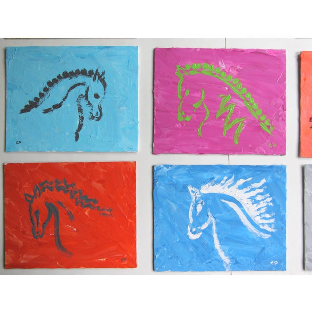 Cleo Plowden Horse Head Profile Paintings by Cleo Plowden - Set of 9 For Sale - Image 4 of 8