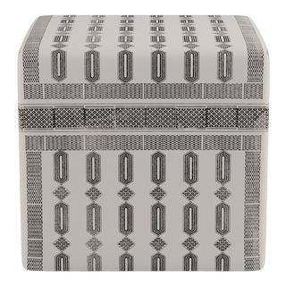 Cube Ottoman in Tusk Doro For Sale