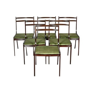 1960s Danish Mahogany Dining Chairs, Set of 6