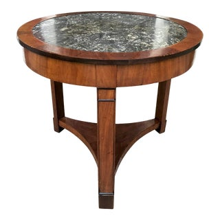 Elegant French Empire Center / Occasional Table of Mahogany For Sale