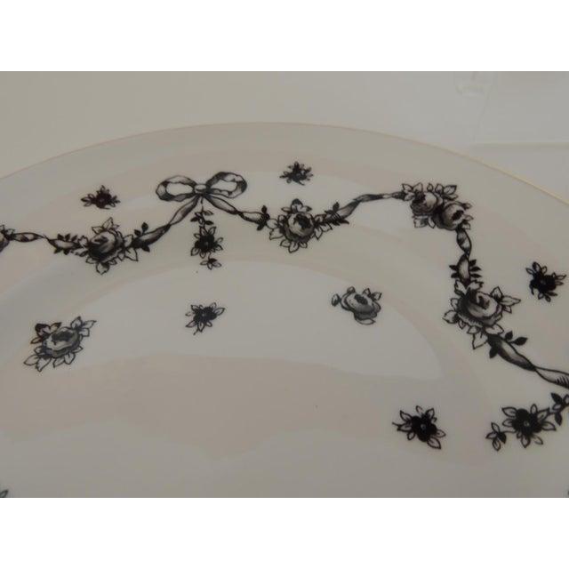 Royal Victoria English White and Black Bone China Dessert Plate For Sale In Miami - Image 6 of 7