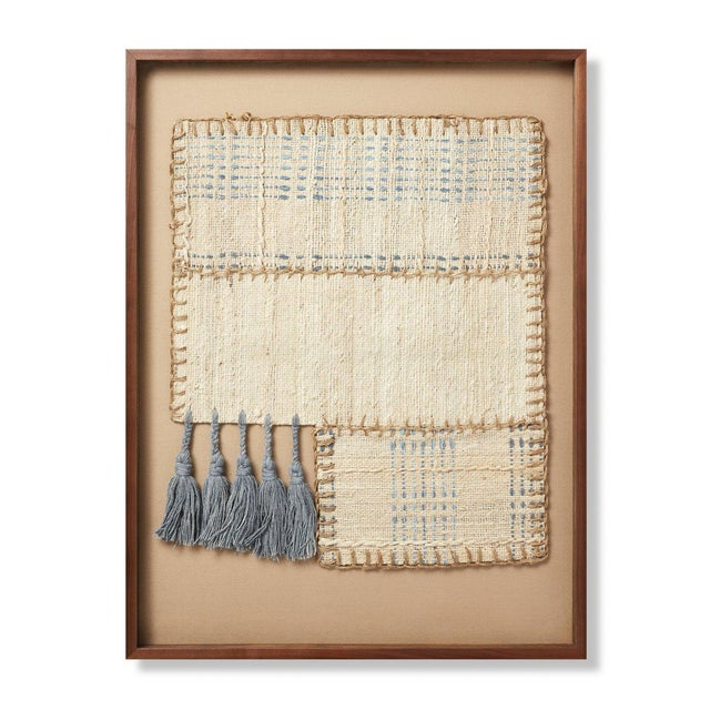 Tan Kenneth Ludwig Chicago Freshwater Textile Art For Sale - Image 8 of 8