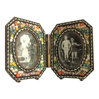 Italian Micro Mosaic Double Frame For Sale