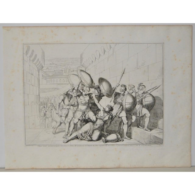 """Bartolomeo Pinelli Engraving c. 1818 """"In the habit of betrayal, killed"""" Rare engraving from the History of the Roman..."""