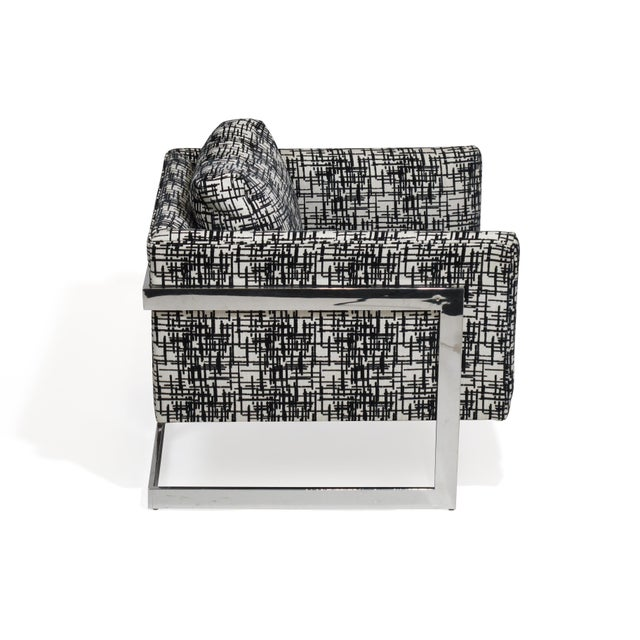 Milo Baughman for Thayer Coggin Chrome Lounge Chair For Sale - Image 5 of 10
