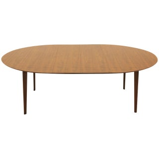 Oval Walnut Dining Table, Expandable With Two Leaves by Edward Wormley For Sale