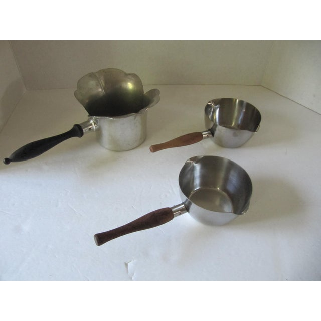 Vintage Pans With Wood Handles- 3 Pieces For Sale - Image 4 of 4