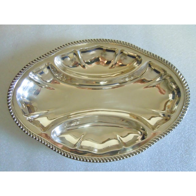 Vintage Poole Silverplate Relish Tray For Sale - Image 6 of 6