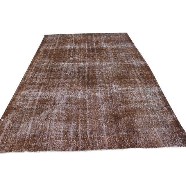 Overdyed Turkish Rug - 7′ × 10′8″ For Sale