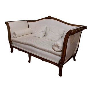 Late 19th Century Louis XV Walnut Settee For Sale