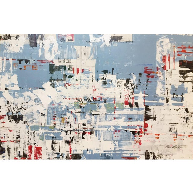 Abstract Ned Martin, East River (Horizontal Diptych) Painting, 2018 For Sale - Image 3 of 10