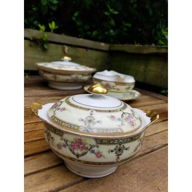 Ceramic 1910s Limoges Uc Lidded Serving Bowl For Sale - Image 7 of 10