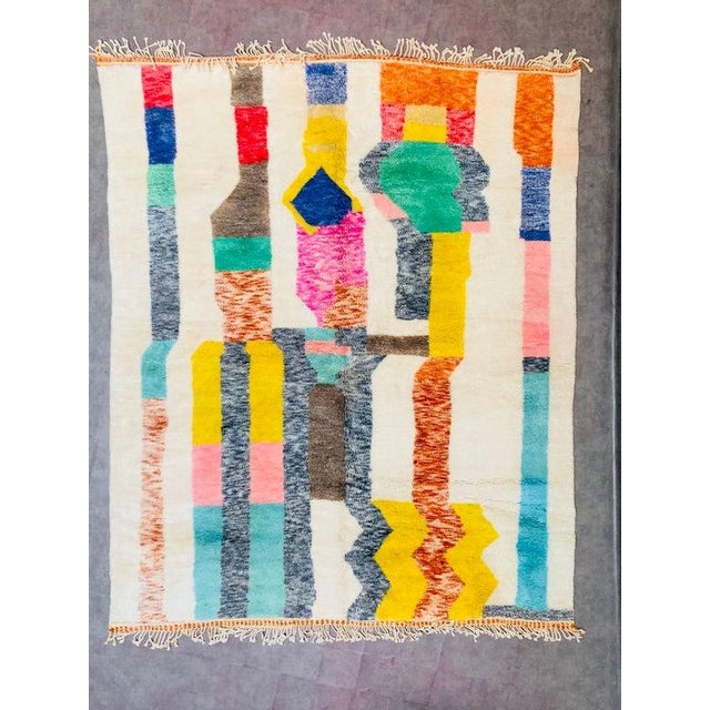 """Moroccan Beni Ourain Mrirt Rug-8'x10"""" For Sale - Image 9 of 9"""