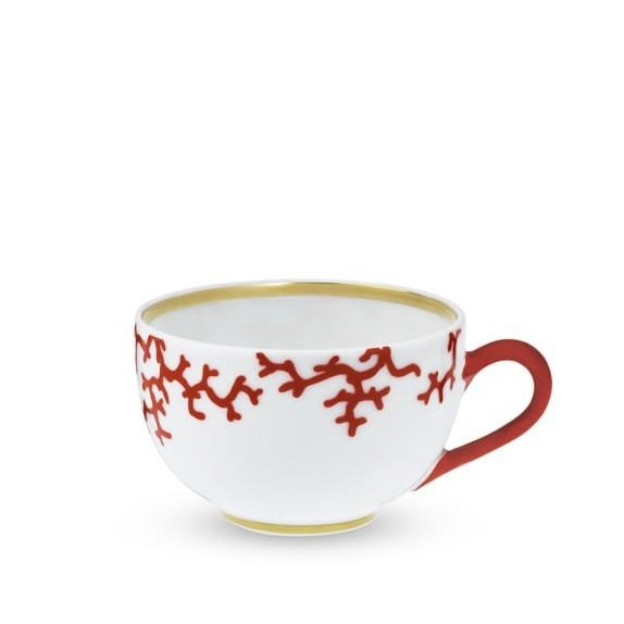 Raynaud Cristobal Limoges Porcelain, Coral Teacups - Set of 8 ( 16 Available ) - Image 3 of 8