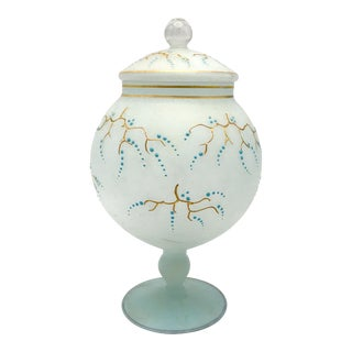 Gold Wisteria Branches Motif Apothecary Jar For Sale