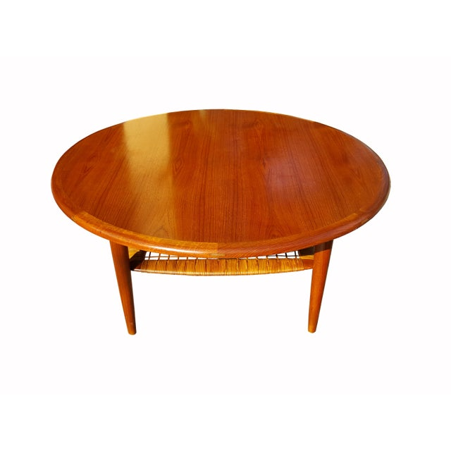 Johannes Andersen Danish Mid-Century Modern Teak Coffee Table - Image 3 of 4