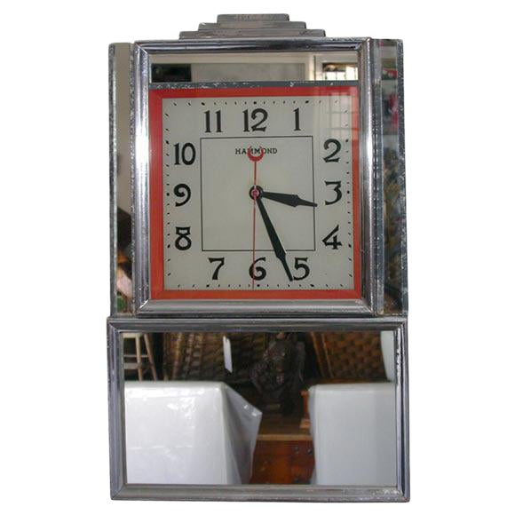 Deco Electric Wall Clock For Sale