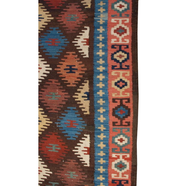 "Early 20th Century Harseen Kilim Runner - 38"" x 99"" For Sale - Image 4 of 4"