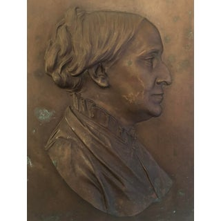 Erastus Dow Palmer Bronze Relief Portrait 1882 For Sale