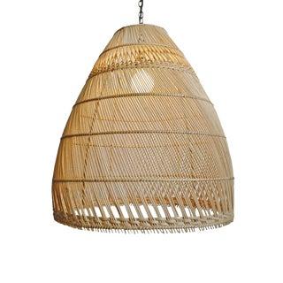 Natural Wicker Basket Bell Lantern Medium For Sale