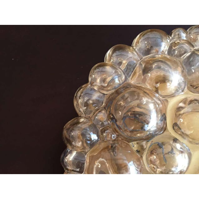 1960s 1960s Helena Tynell Limburg Bubble Glass Flush Light For Sale - Image 5 of 8