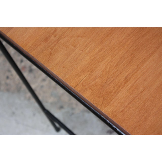 Metal Paul McCobb for Winchendon Maple and Iron Console / Media Table For Sale - Image 7 of 13