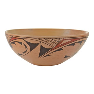 Hopi Hand-Coiled Golden Burnished Bowl