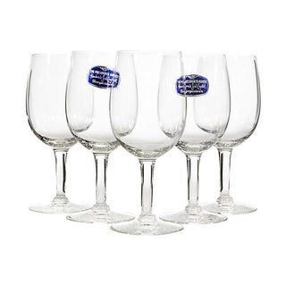 1950s Morgantown Glass Clear Stems - Set of 5 For Sale