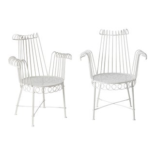 French Mid-Century Cap d'Ail Garden Chairs by Mathieu Matégot - a Pair For Sale