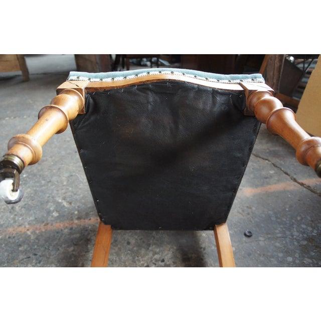Antique Victorian Renaissance Revival Walnut Burl Parlor Accent Chair For Sale - Image 11 of 13