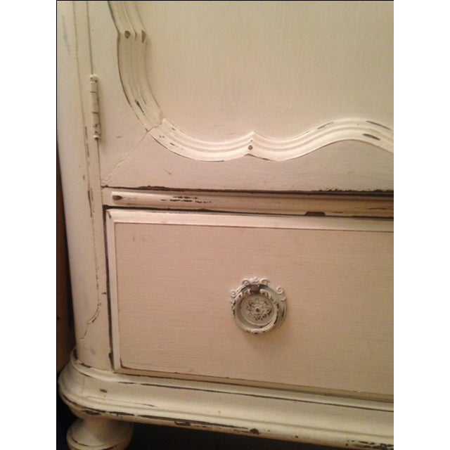 White Antique Shabby Chic Armoire - Image 4 of 5