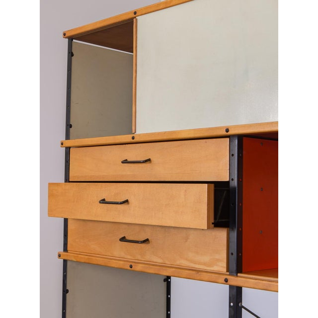 1950s Charles & Ray Eames Esu 400 C Storage Unit for Herman Miller For Sale - Image 5 of 11