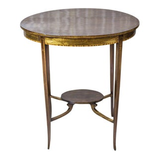 19th-Century Oval Side Table For Sale